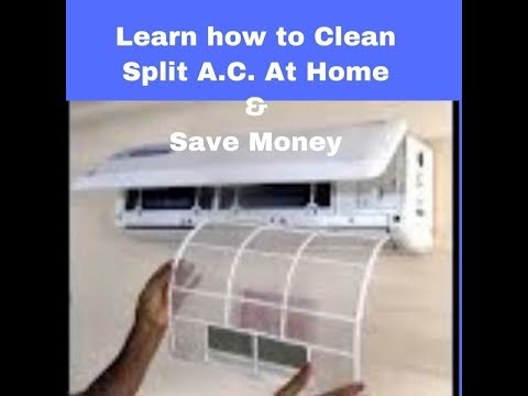 Process of Servicing Split AC( Samsung or any) Filters at home easily & save money