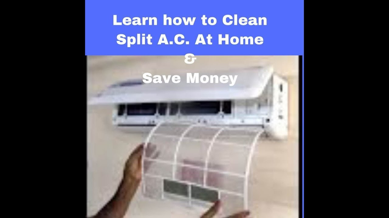 Process Of Servicing Split Ac Filters At Home Easily Youtube