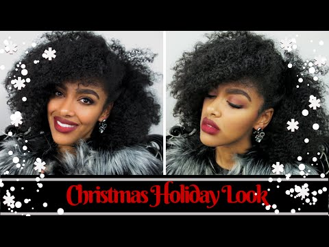 Colab || Christmas Holiday Look With Discocurls