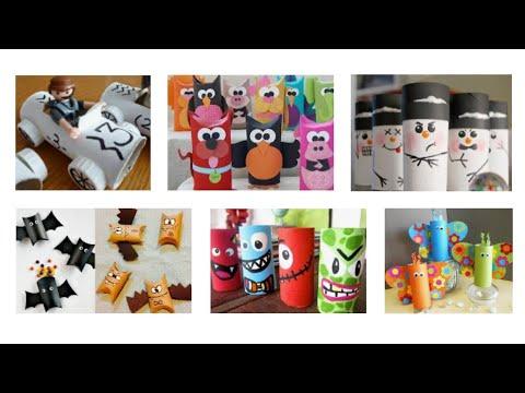 100 ideas para reciclar rollos papel higienico diy youtube - Ideas para reciclar ...