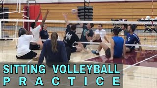 Sitting Volleyball Practice (feat. Katie Holloway) - Volleyball Vlogs
