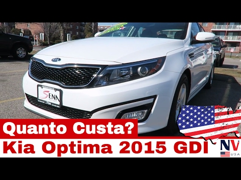LINDO Kia Optima 2015 GDI - Quanto Custa nos Estados Unidos