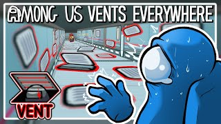 WE PLACED TOO MANY VENTS! | Among Us Mods