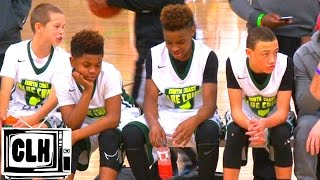 LeBron James Jr does the WATER BOTTLE CHALLENGE after dropping dimes