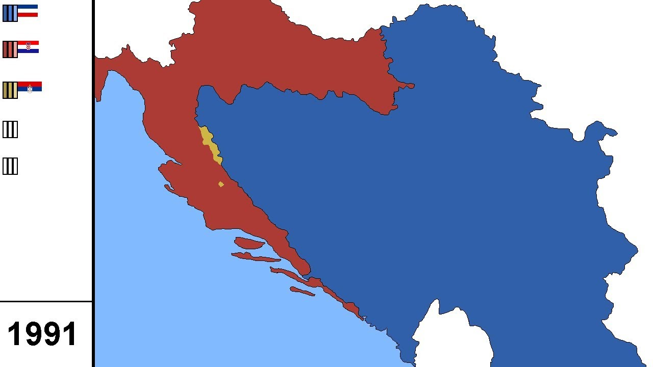 Breakup Of Yugoslavia 1991 1995 Alternate History