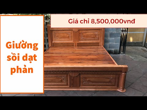 Giường ngủ gỗ sồi - giường ngủ gỗ tự nhiên giá mềm