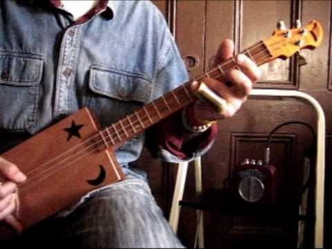 Cigar Box Guitar Paint It Black Rolling Stones Back Porch Mojo