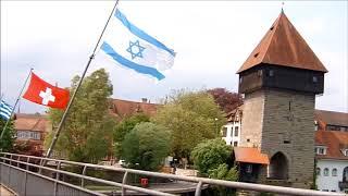 דגל ישראל על הנהר ריין בקונסטנץ - ישעיהו 48:18