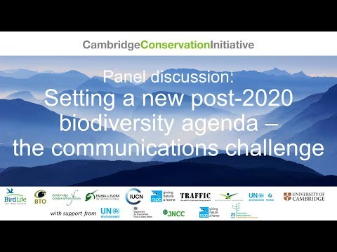 Setting a new post-2020 biodiversity agenda – the communications challenge