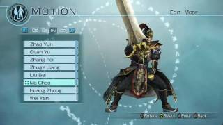 DYNASTY WARRIORS 6 EMPIRES GAMEPLAY - EDIT MODE (MALE)