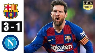Barcelona vs napoli 3 1 all goals and ...