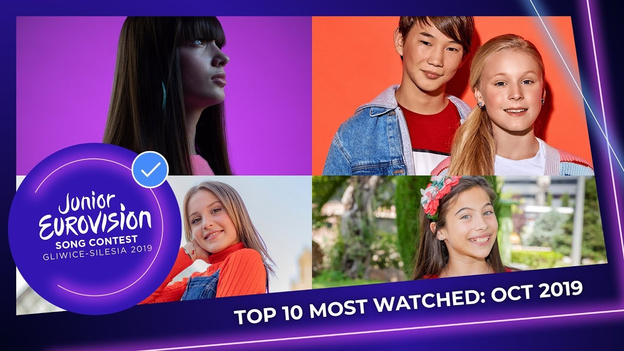 TOP 10: Most watched in October 2019 - Junior Eurovision Song Contest