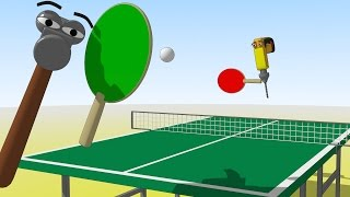 Funny Tools For Kids (ep.16) - Let´s Play Table Tennis - Aapv