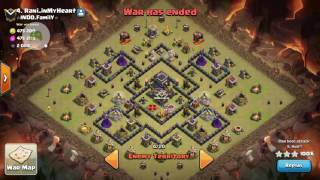 Clash Of Clans War Strategy!Epic Th9 GoHo On Famous Base!3 Star Attack!Works with even low lv heroes