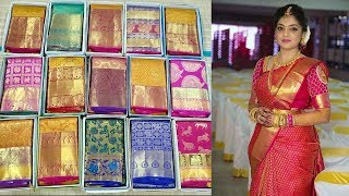 Glorious Bridal Kanchipuram Sarees Unboxing With Price For Each Saree