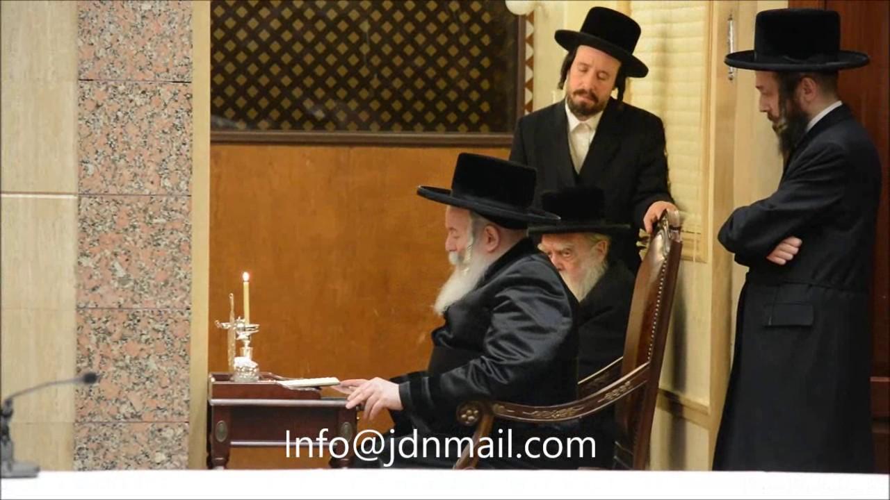 Chanukah 5777 With Bobover Rebbe