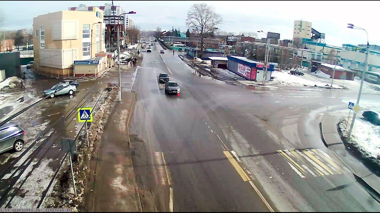 ДТП в Серпухове. Догнал на полном ходу... 28 февраля 2017г.