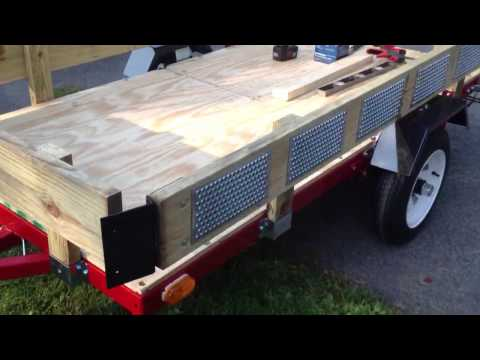 Norther Industrial 4x8 Folding Trailer Deck