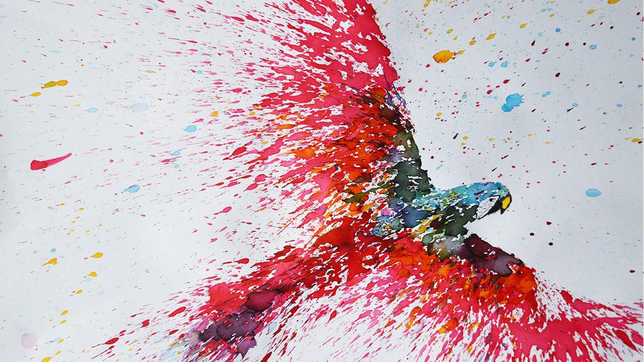 Abstract Paint Splatter Artist