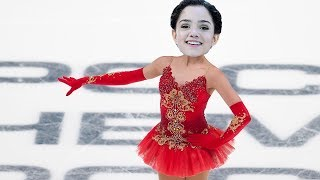 Евгения Медведева спародировала Алину Загитову на Олимпиаде