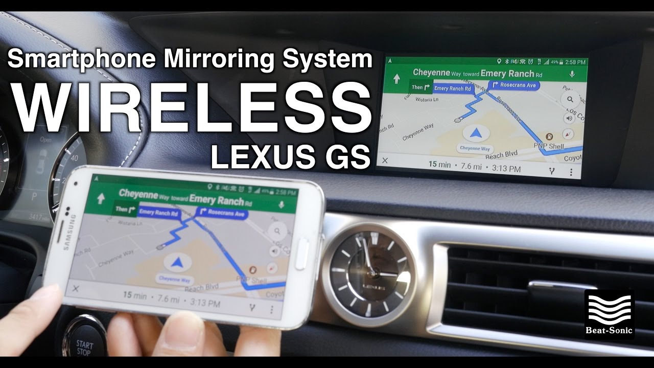 2013-2018 Lexus GS 200t 350 450h Android Wireless Mirroring System