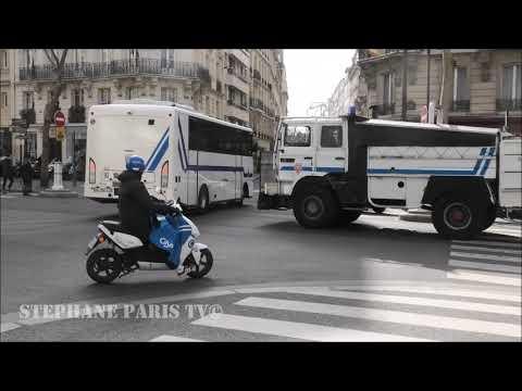 Pompiers,SAMU,convoi De Police Anti émeute Dans Paris