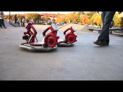 This Guy Took 4 Leafblowers And A Skateboard Deck And Turned Them Into A Wonderfully Goofy Hoverboard