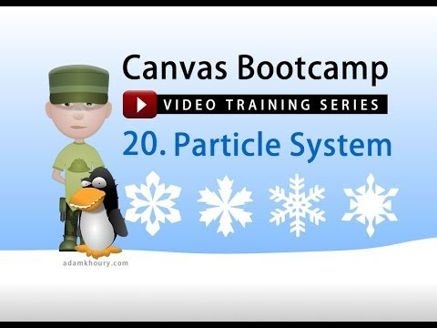 Canvas Bootcamp 20 - Particle Effect System Tutorial Snow Falling Animation