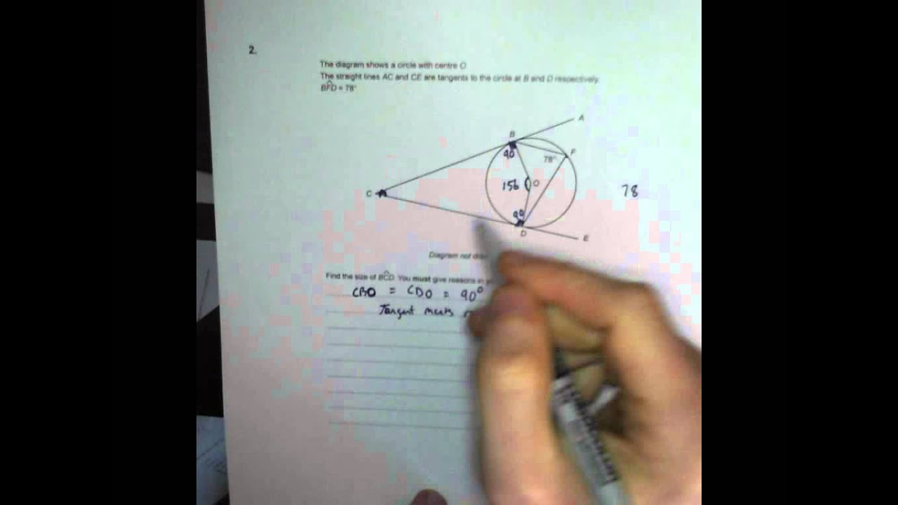 Circle Theorems - Q2 GCSE Maths Revision Walking Talking Topics with ...