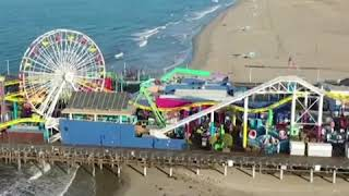 Santa Monica Pier sits completely empty amid COVID-19 pandemic | ABC News