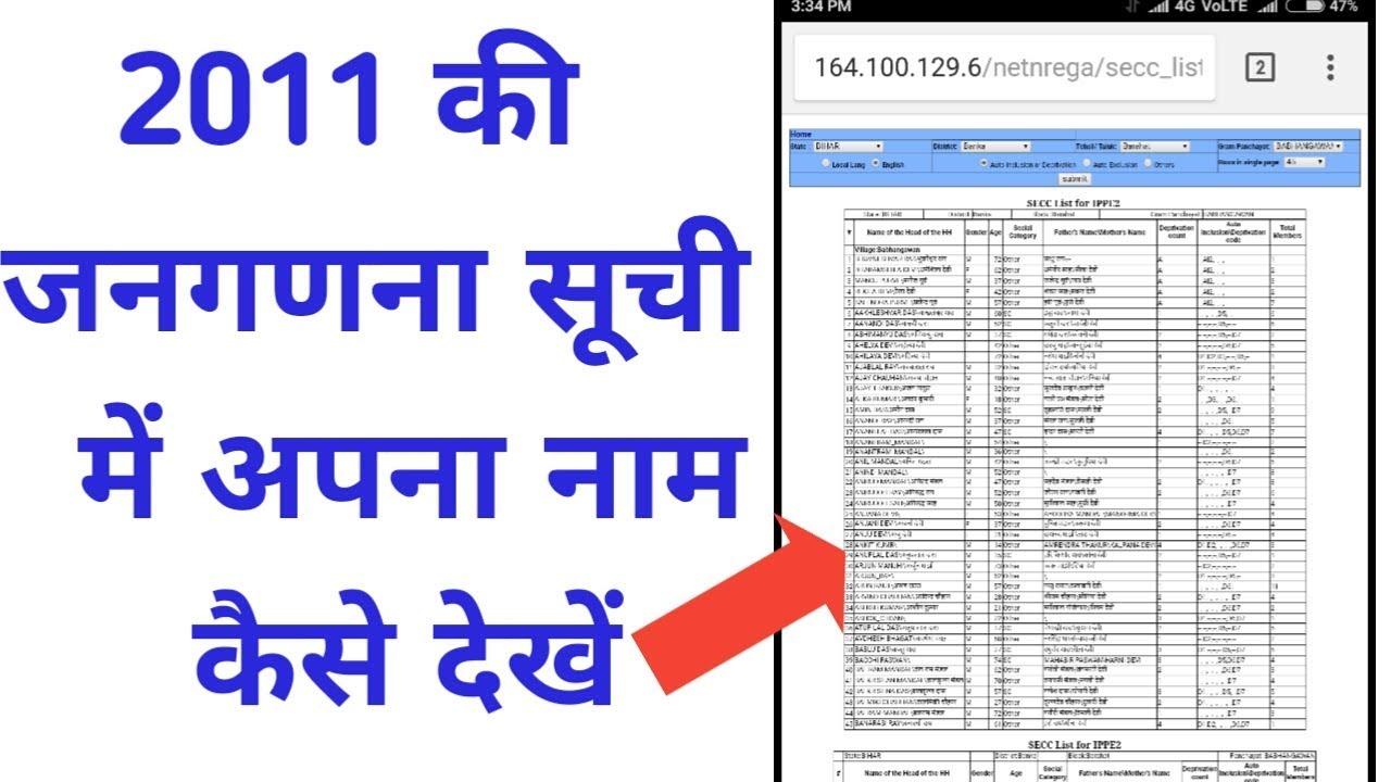 SECC 2011 list! IPPE:2 LIST 2011! 2011 jangadna suchi! bpl 2011 list