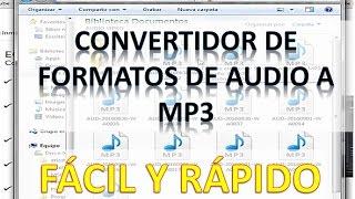 Convertidor de Formato Audio a Mp3 Online ¡FÁCIL Y RÁPIDO!
