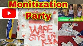 Monitization party/abhi to party shuru hui hai/wife style in ksa