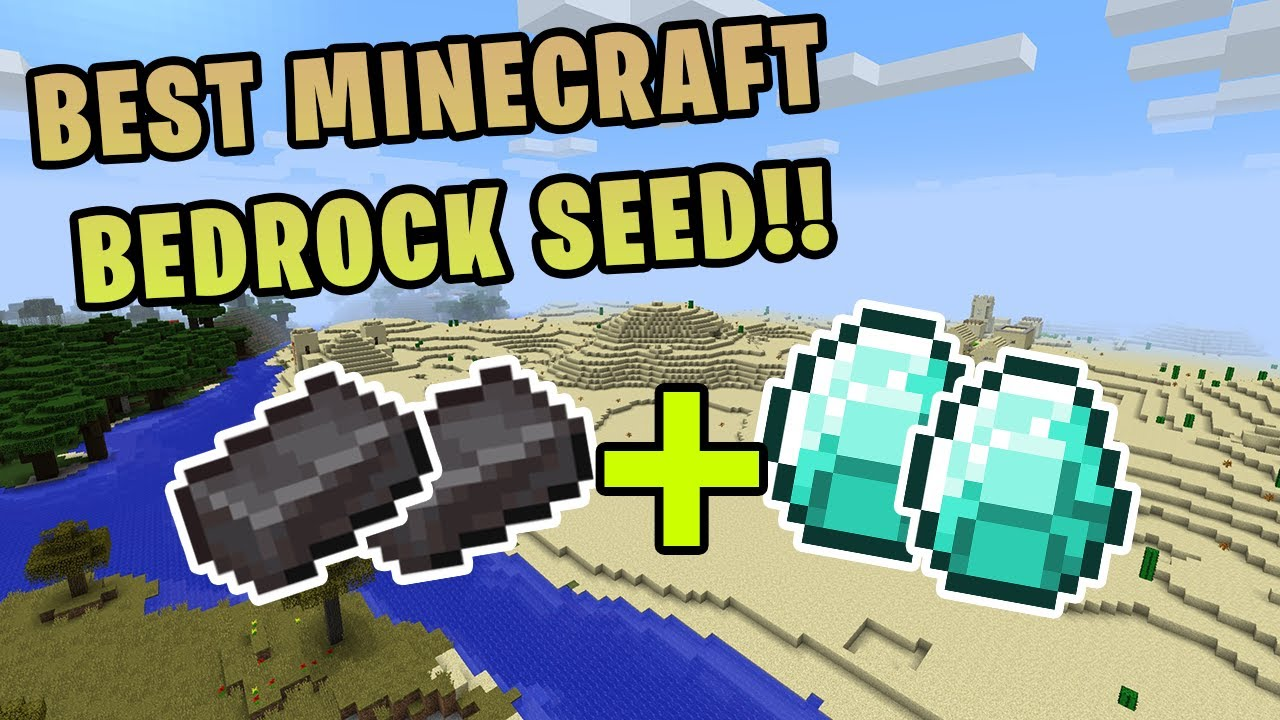 The Best Minecraft Bedrock Seed Lots Of Diamonds Netherite Minecraft Bedrock Edition Youtube