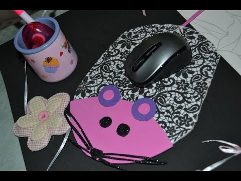 fabriquer un tapis de souris bricolage enfants tutoriel. Black Bedroom Furniture Sets. Home Design Ideas