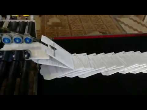 Склейка объёмных конвертов (2точки. Скорость склейки — 5 000 экз./час.)