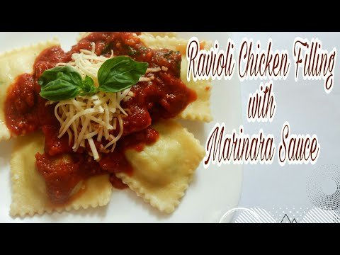 Ravioli Chicken Filling with Marinara Sauce | #14