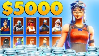 SPENDING $5000 on FORTNITE gets you ALL of these RARE SKINS + MORE!