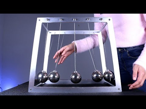 Amazing Demonstration Of A Giant Newton's Cradle!