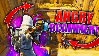 Angry GANGSTER Scammer Falls For My TRAP! (Scammer Gets Scammed) In Fortnite Save The World Pve