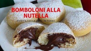 Ricetta Krapfen Alla Nutella.Bomboloni Alla Nutella Al Forno Ricetta Facile Ricette Di Gabri Youtube