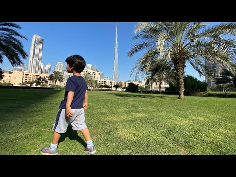 2020.10 Weekend Family Time – nice park near our home in downtown Dubai