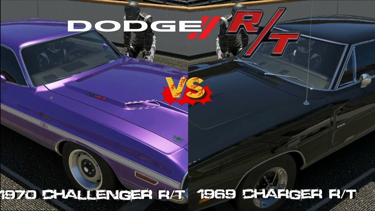 forza 5 - 1970 dodge challenger r/t vs 1969 dodge charger r/t