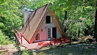 Lake Lure Real Estate:  Affordable A-Frame Cabin on Half Acre - 108 Sir Galahad Drive, Lake Lure, NC