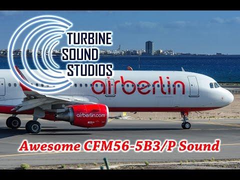 Air Berlin A321-211- Takeoff - AWESOME CFM56-5B3/P Sound
