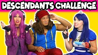 Descendants 2 Whisper Challenge with Jay, Mal and Evie (Are they Real or Fake?) 2018