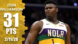 Zion Williamson Scores Career High 31 Points In Pelicans Vs. Trail Blazers | 2019 20 Nba Highlights