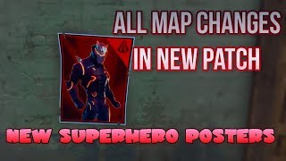 ALL NEW MAP CHANGES IN PATCH 4.3 - Fortnite Battle Royale New Secret Superhero Posters