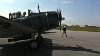 MAAM WWII Weekend June 4th 2011 Douglas SBD-5 Dauntless startup