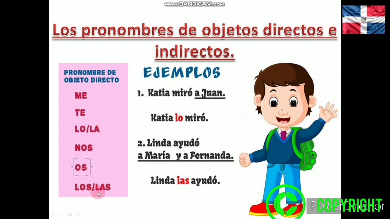 Les pronoms compléments en español